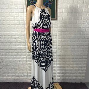 Vince Camuto Belted Maxi Dress Size 10